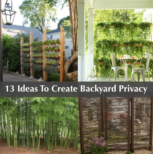 13 attractive ways to add privacy to your backyard for Creating privacy on patio