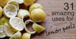 31 Uses For Lemon Peels
