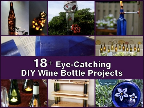 18 Eye Catching DIY Projects With Wine Bottles