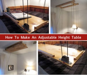 DIY Adjustable Height Table