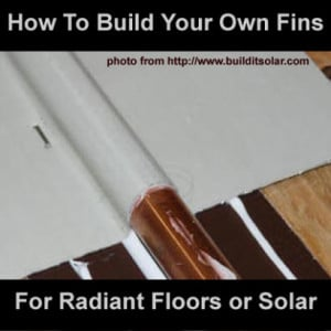 DIY Fins For Solar Water Heater Or Radiant Floors