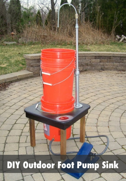 DIY Outdoor Foot Pump Portable Sink