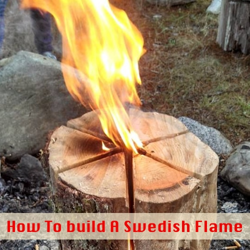 Fire Making: Building A Swedish Flame