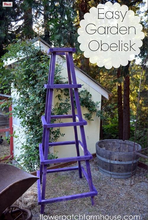 Gardening-Ideas-DIY-Garden-Obelisk