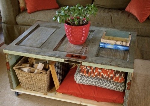 How To Make A Salvaged Door Coffee Table