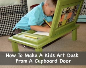 How To Make A Kids Art Desk From A Cupboard Door