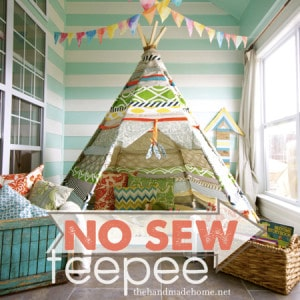 How To Make A No-Sew Teepee For Kids
