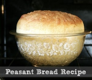 Peasant Bread Recipe