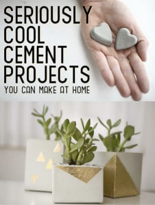 Seriously Cool Craft Projects With Cement