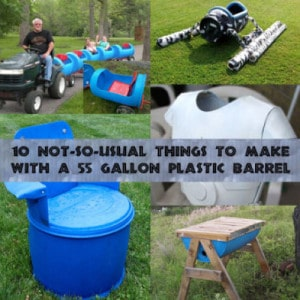 10 Not-So-Usual Things To Make With 55 Gallon Plastic Barrels