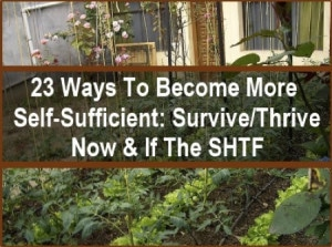 23 Ways To Be Self Sufficient