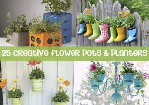 25 Wonderfully Creative DIY Planters & Flowerpots