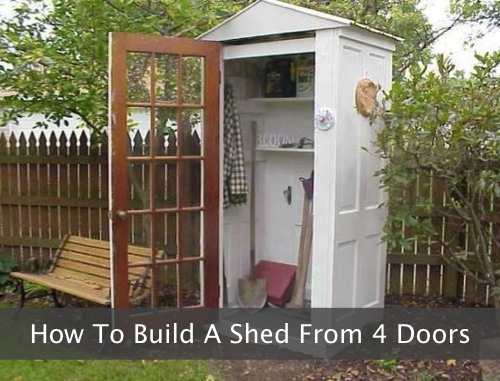 How-To-Build-A-Garden-Shed-From-4-Doors