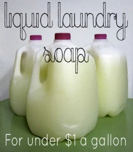 How To Make Liquid Laundry Detergent For $1 A Gallon