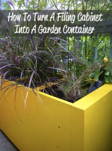 How To Turn A Filing Cabinet Into A Garden Container