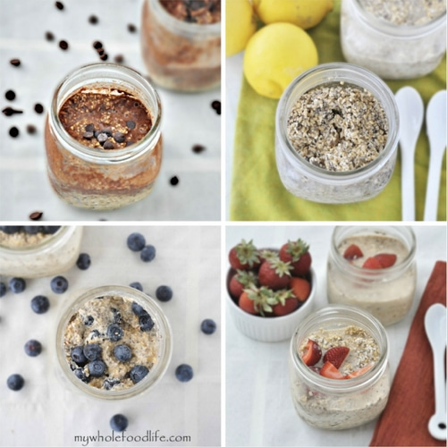 Skinny Overnight Oats in a Jar | Skinnytaste