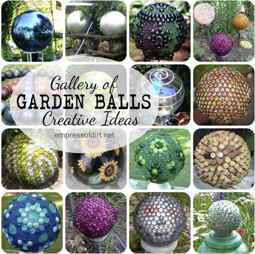 Outdoor Ornaments DIY Concrete Garden Globes Homestead Survival