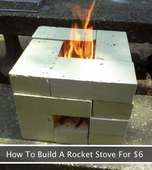how to build a 16 brick rocket stove for 6 homestead