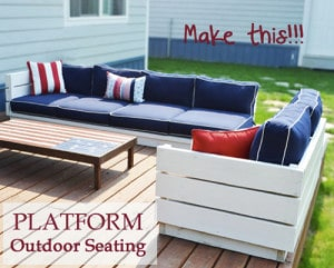 How To Build A Platform Outdoor Sectional (Free Plans)