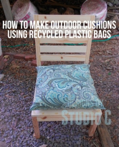How To Make Custom Outdoor Cushions Using Recycled Plastic Bags