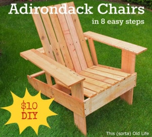 How To Make DIY Adirondack Chairs For $10