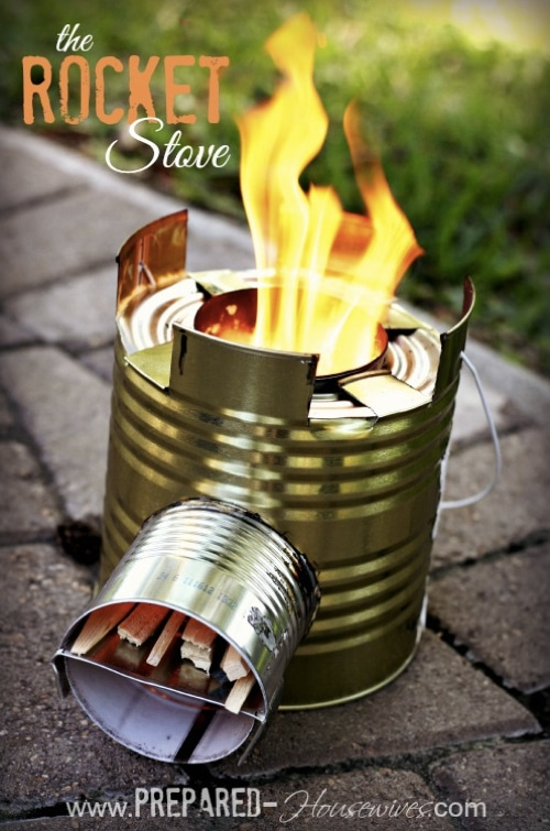 How To Build A Tin Can Rocket Stove