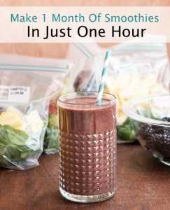 How To Make A Month Of Smoothies In One Hour