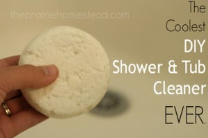 The Coolest Homemade Tub & Shower Cleaner Ever