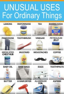 Unusual Uses For 24 Ordinary Things