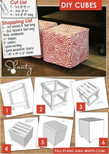 Upholstered Cube Ottoman Plans