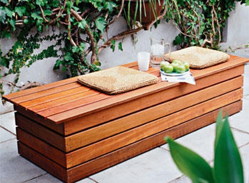 diy garden storage bench | Quick Woodworking Projects