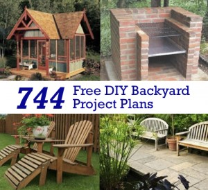 744 Free DIY Backyard Project Plans