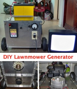 Build A DIY Generator From A Lawnmower For $40