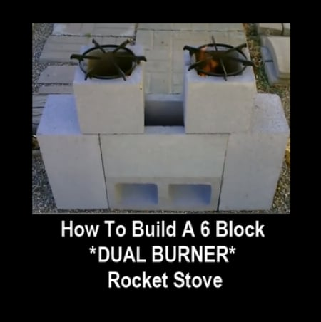 How To Build A 6 Block Dual Burner Rocket Stove