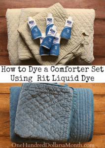 How To Dye A Comforter Bed Set Using A Front Load Washing Machine And Rit Liquid Dye