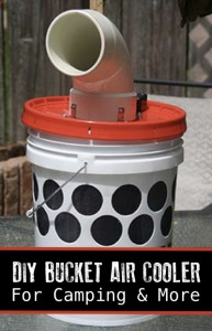 How To Make A DIY Bucket Air Cooler For Camping And Other Uses