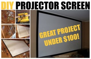 How To Make A Home Projector Screen For Under $100
