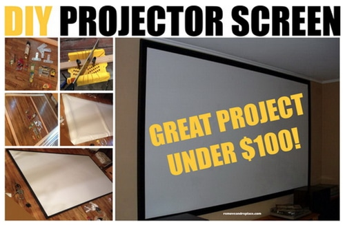 How-To-Make-A-Home-Projector-Screen-For-Under-$100