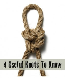How To Tie 4 Useful Knots
