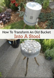How To Transform An Old Bucket Into A Stool