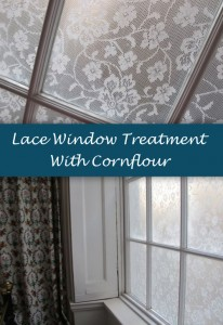 Lace Window Treatment With Cornflour