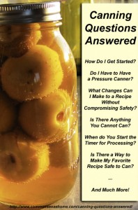 Most Popular Canning Questions Answered – A Great Home Canning Resource