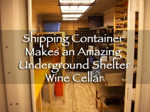 Shipping Container Makes An Amazing Underground Shelter Or Wine Cellar
