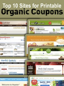 Top 10 Printable Organic Food Coupon Sources