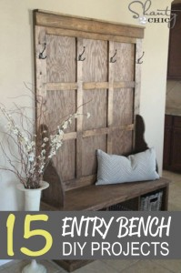 15 DIY Entry Bench Projects