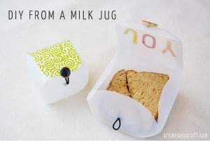 DIY Lunchbox From A Milk Jug