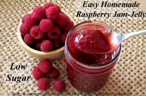 Easy Low Sugar Raspberry Jam-Jelly