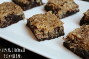 German Chocolate Brownie Bars