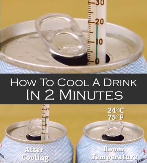 21 Budget Friendly Cool Diy Home Bar You Need In Your Home: How To Cool A Drink In 2 Minutes