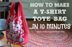 How To Make A No-Sew T-Shirt Tote Bag In 10 Minutes